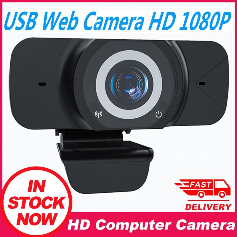 HD 1080P PC Web Kamera USB Webcam Mit Mikrofon Sound-absorbieren Mikrofon Video Konferenz Live Broadcast Für Computer kamera