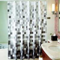 Водонепроницаемая занавеска для ванны, занавеска из полиэстера, Экологически чистая, большая, широкая, 12 крючков, Rido Douch