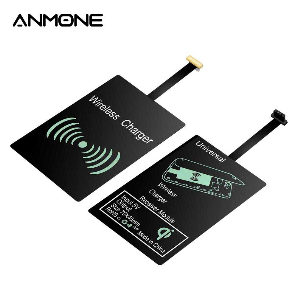 ANMONE Беспроводное зарядное устройство Зарядка USB беспроводной зарядный приемник Универсальный Micro USB Type C Qi Pad модуль для Huawei Mate30 pro