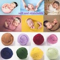 Реквизит для фотосъемки новорожденных одеяло реквизит для фотосъемки младенцев Пеленальный молочный хлопковый растягивающийся оберточны...