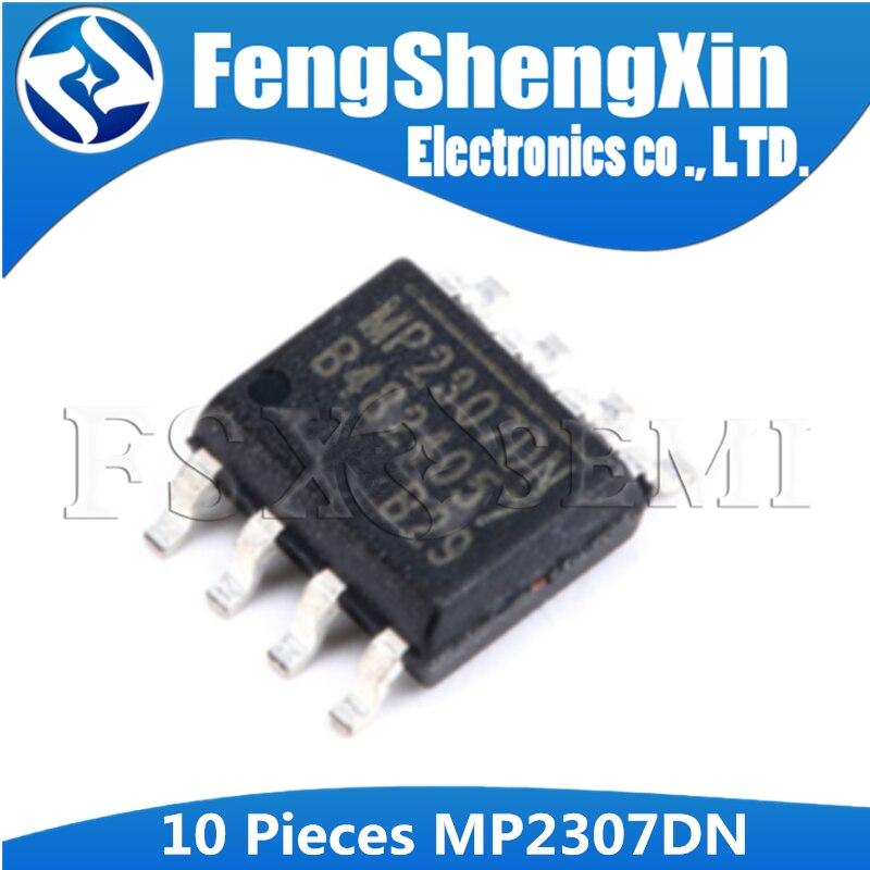 10 pçs/lote MP2307DN MP2307DN-LF-Z MP2307 3A, 23 V, 340KHz Synchronous Retificado Step-Down Converter IC SOP-8