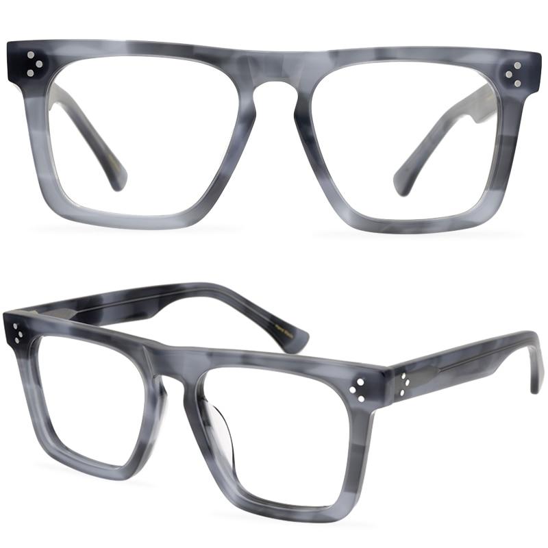 الرجعية كامل الإطار نظارات خلات شريط مربع إطار نظارات اليابانية للجنسين نظارات