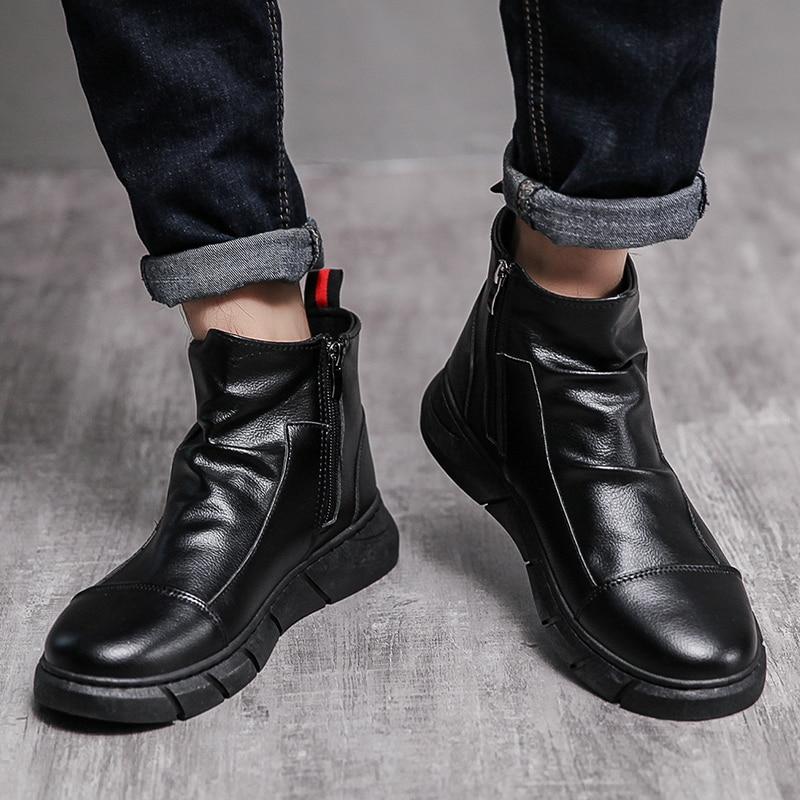 Zapatos de cuero para Hombre Botas de caballero mocasines suaves zapatos casuales...