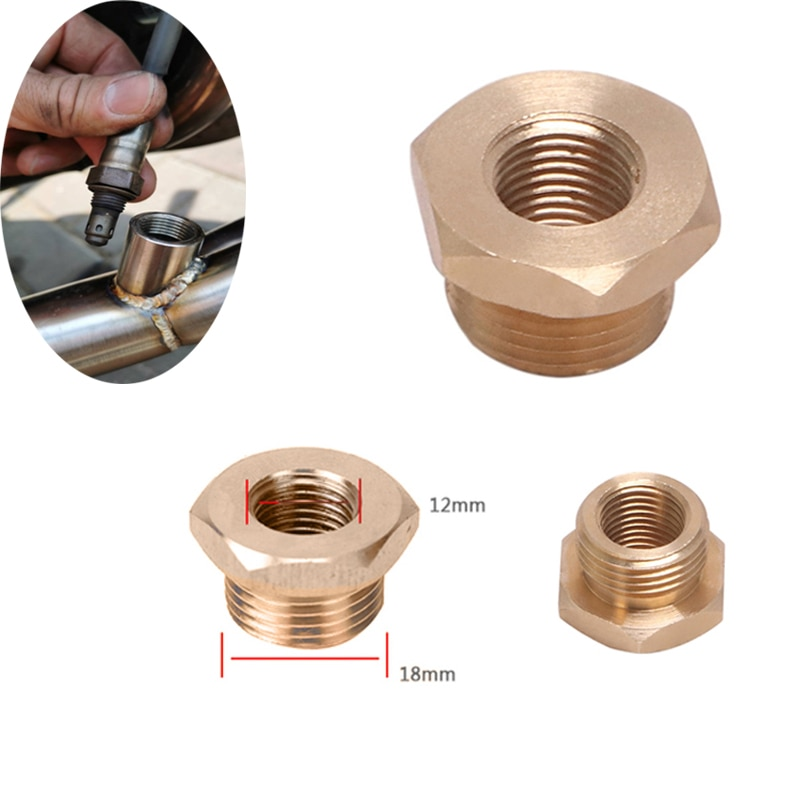 M18 to M12 O2 Sensor Hole Transform Screw Motorcycle Exhaust System Stainless Steel Adapter 18mm to 12mm