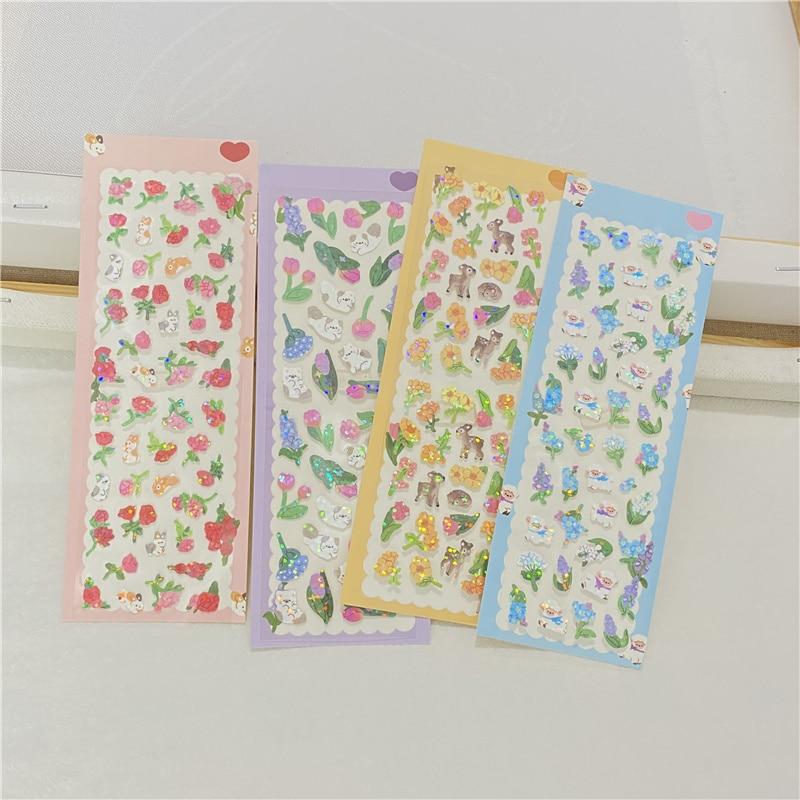 pegatinas-escamas-laser-con-diseno-de-animales-y-flores-decoracion-de-albumes-de-recortes-rosas-papeleria-kawaii-coreana