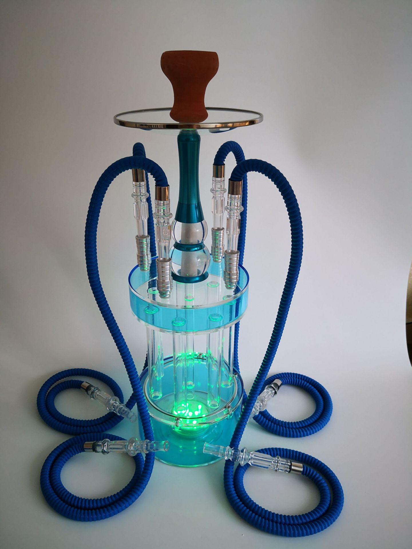 new Products Arab Hookah Four hoses with LED LightS shisha Nargile Shisha Hookah Set Accessories  Bar party gift Multiplayer enlarge