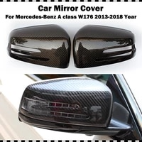 for benz a class a200 a220 a250 replacement carbon fiber side door mirror cover 2013 2018 w176 amg a45 cf styling mirror cap