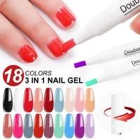 1pcs neon gel polish pen varnish uv nail semi permanent base coat primer nail art extension uv led gel nail set for manicure