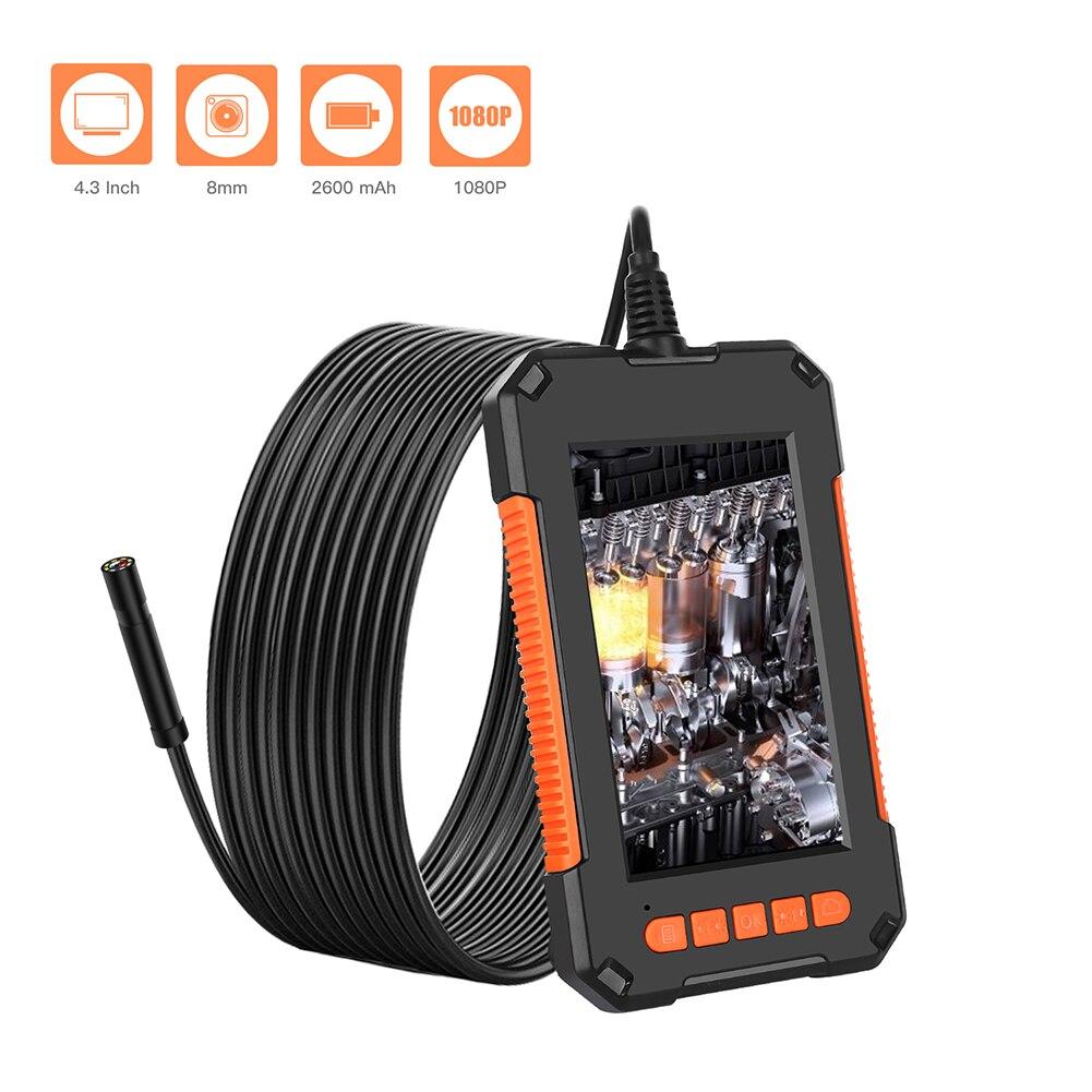 4.3inch Screen Mini Inspect Endoscope Camera Practical Durable Multi-functional Flexible Hard Cable Snake Borescope