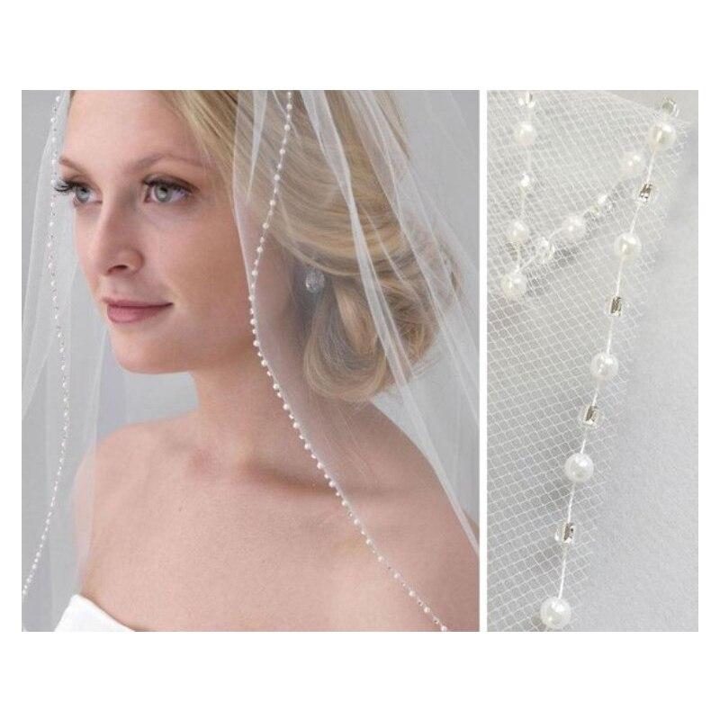 Wedding Veil, 1 Layer, Crystal Wedding Veil, Sequin Wedding Veil, Bridal Veil in Ivory and White, Fingertip Length, Elbow Length fingertip veil with small flowers