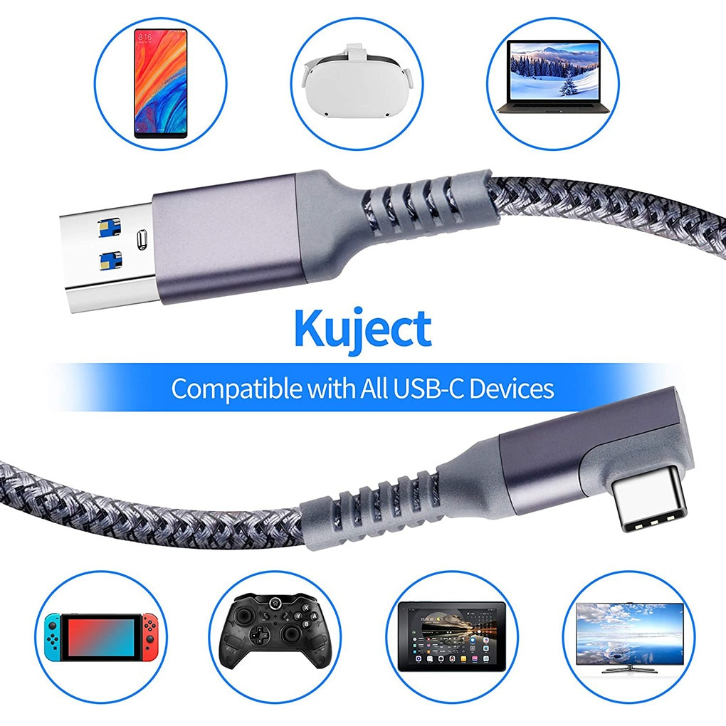 5M Charging Cable Data Line for Oculus Quest 1/2 Link VR Headset USB 3.0 Type C Data Transfer Type-C To USB-A Cord VR Accessorie enlarge