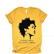 Her şey her şey siyah kız gömlek sanatçı Lauryn tepe T-shirt müzik Hip Hop Tee BLM siyah kız sihirli gömlek artı boyutu üst