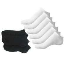 6 paires blanc + 6 paires noir mme Sport chaussettes coton riche