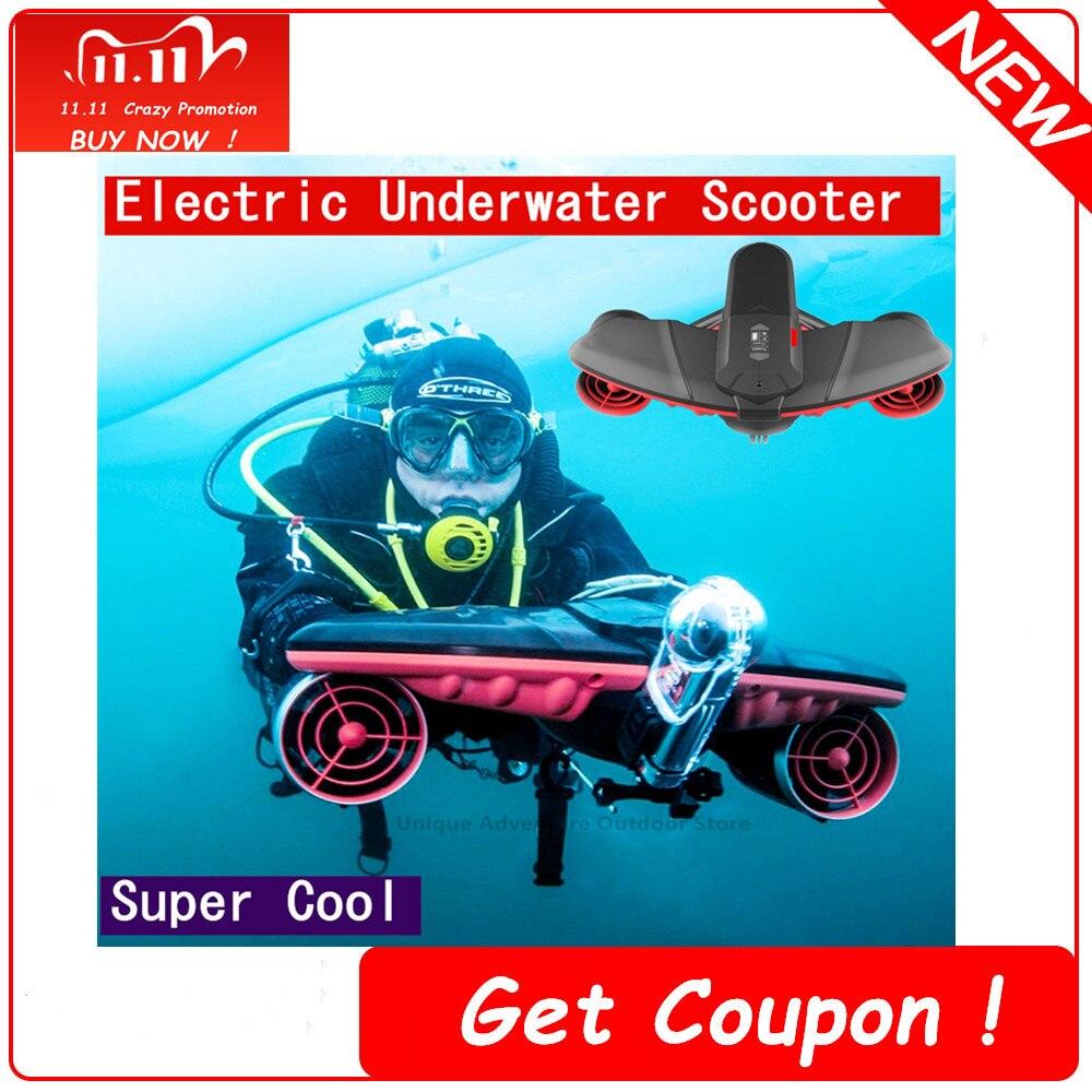 جديد الكهربائية تحت الماء سكوتر ثلاثي سرعة التبديل Seascooter لسكوبا أفضل من أجهزة لياقة بدنية للاستخدام الخارجي الأحمر غاطسة أداة