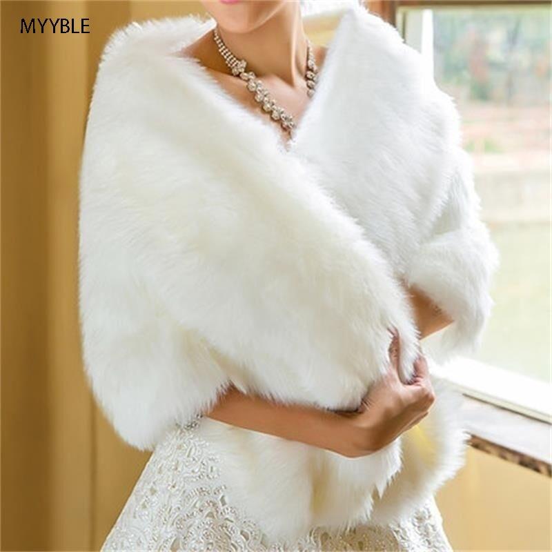 MYYBLE-gorro elegante de Invierno para mujer, chal de boda, chaqueta de novia,...