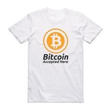 Bitcoin accepté ici Crypto monnaie T-Shirt BTC commerce de confidentialité T-Shirt hommes hauts T-Shirt conception personnalisée classique
