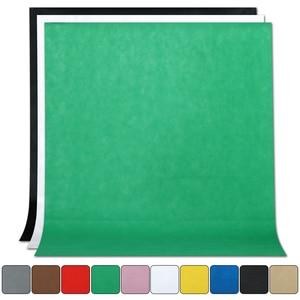 1,6 м х 2 м/3 М/4 м для студийной фотосъемки для простой фон нетканые сплошного Цвет зеленый Экран фон для фотографии с оформлением в виде 10 Цвет ткань