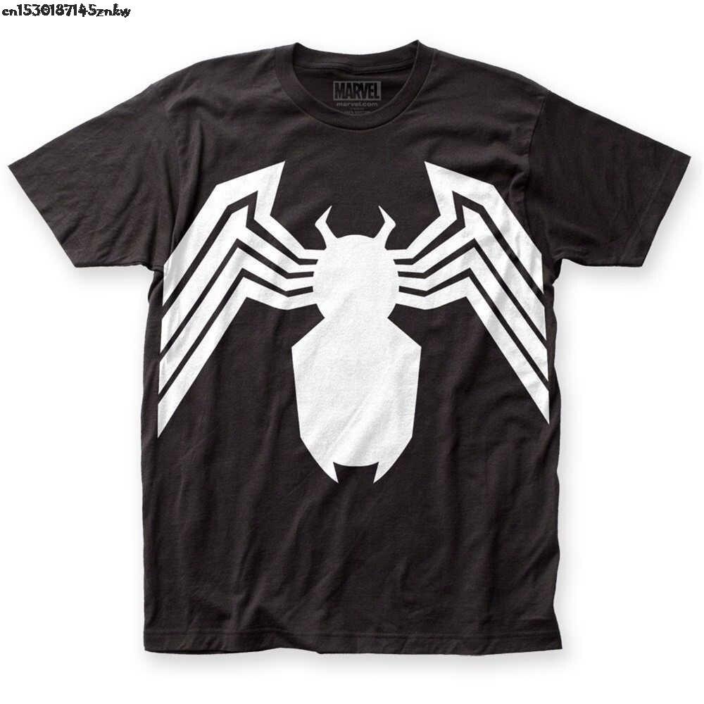 Hot Sale Fashion Official Marvel The Amazing Spider-Man Venom Suit Logo Legs T-shirt S-3XL top High  Quality P