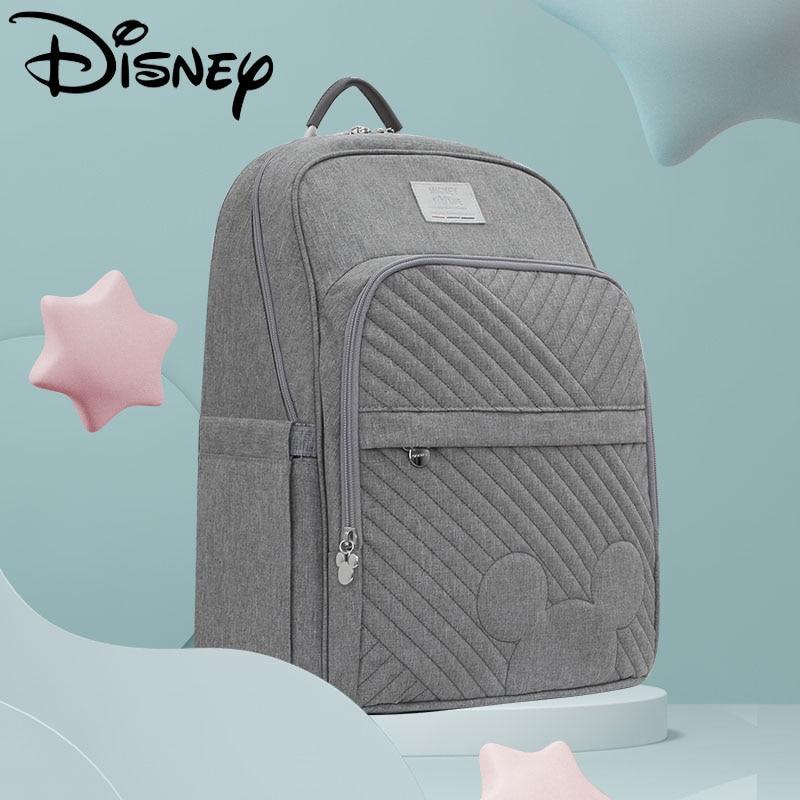 ديزني بوتيك الصلبة النقش حقيبة المومياء USB حفاضات حقيبة رعاية الطفل سعة كبيرة الأمومة حقيبة الحفاض حقيبة ظهر للسفر