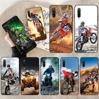 hpchcjhm motocross moto black tpu soft rubber phone cover for redmi note 8 8a 7 6 6a 5 5a 4 4x 4a go pro plus prime