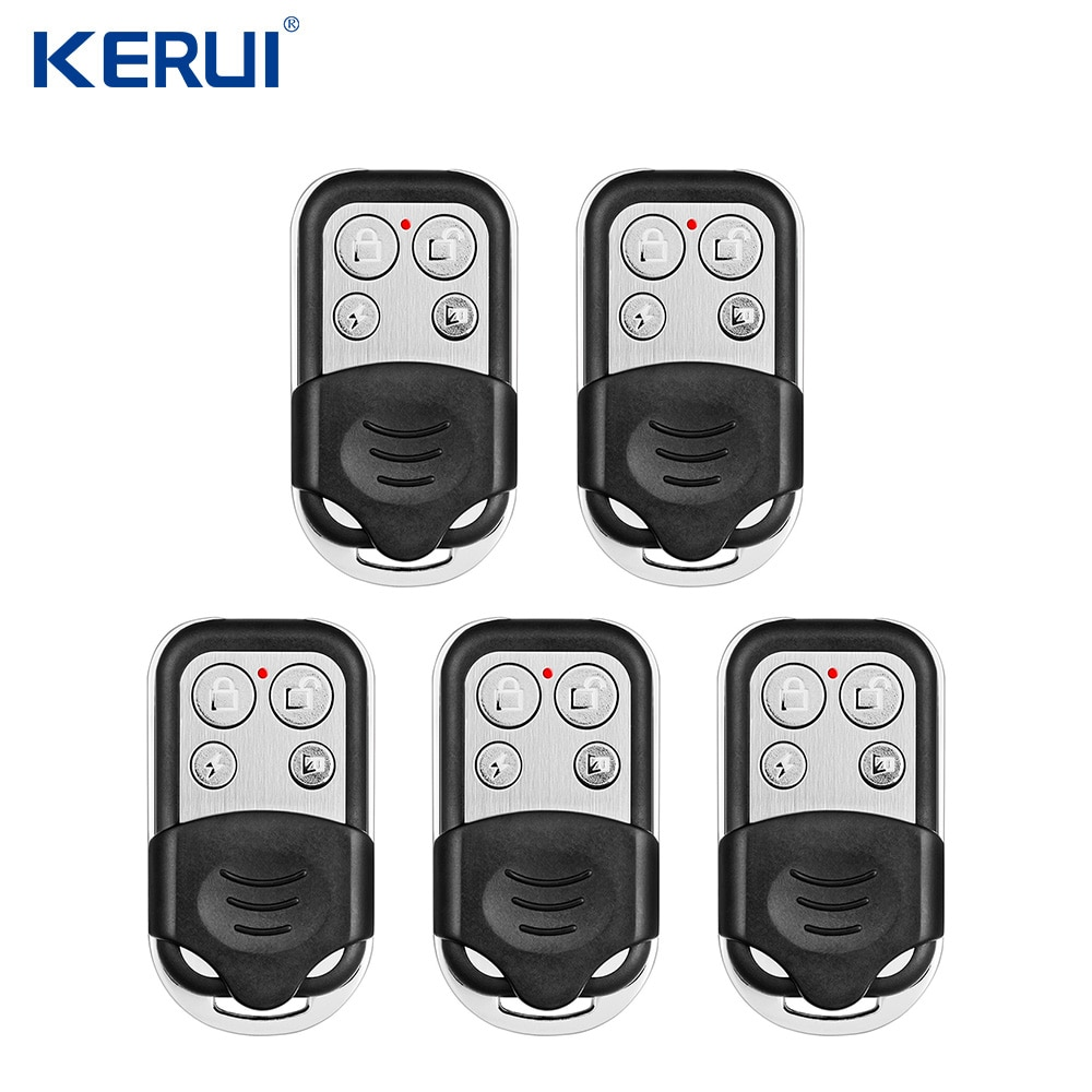KERUI-نظام إنذار أمان المنزل RC528 ، جهاز تحكم عن بعد معدني محمول مع واي فاي ، ملحقات إنذار ، 5 قطعة