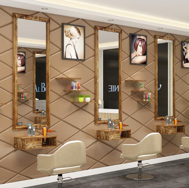 Парикмахерские ножницы настенное зеркало парикмахер магазин Рабочий стол Шкаф комплексный косметический зеркало светодиодный напольное ...