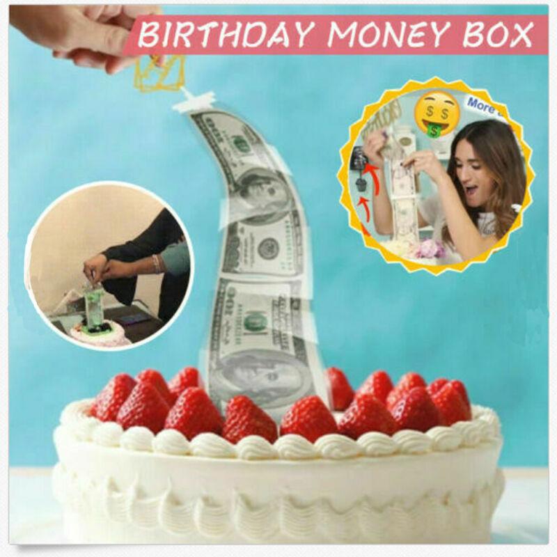 Cake ATM NEW Surprise Making Toy Cake ATM-Happy Birthday Cake Topper Money Box Funny Cake Kids Gifts Money Box Organ Artifact