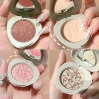glittering cobblestone shape eyeshadow matte shimmer high pigment waterproof long lasting easy to wear single shiny eye makeup