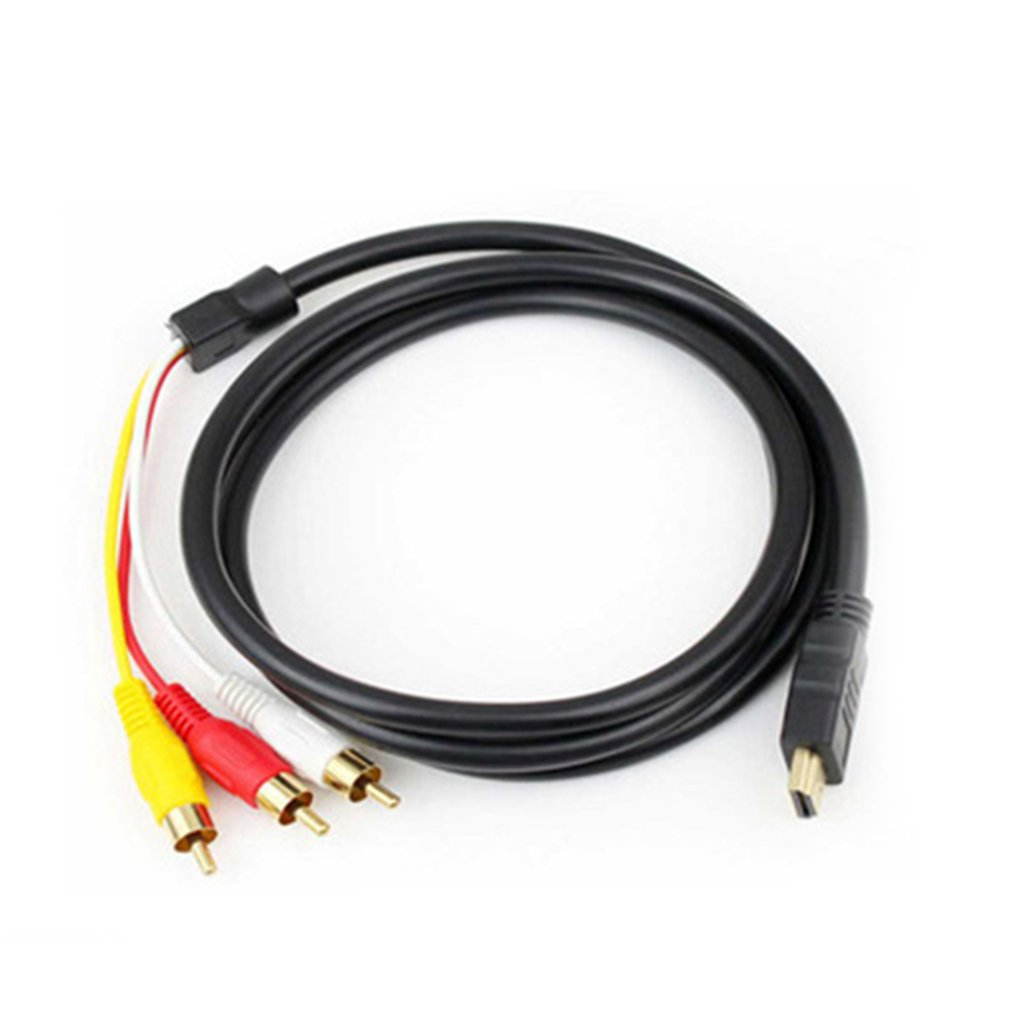 HDMI a AV HDMI a 3RCA rojo amarillo y blanco audio video cable HDMI a AV 3RCA cable