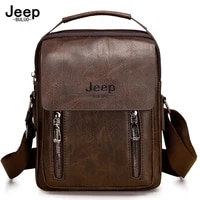 jeep buluo famous brand mans tote hand bag crossbody new men fashion messenger shoulder bags business casual daypacks pu