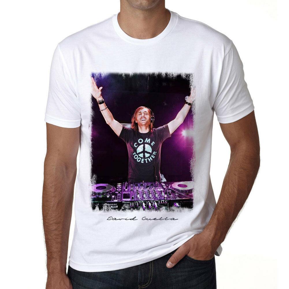 Dj David Guetta 1 camiseta Col Rond hombre Camiseta Cadeau tamaño Unisex S-3Xl