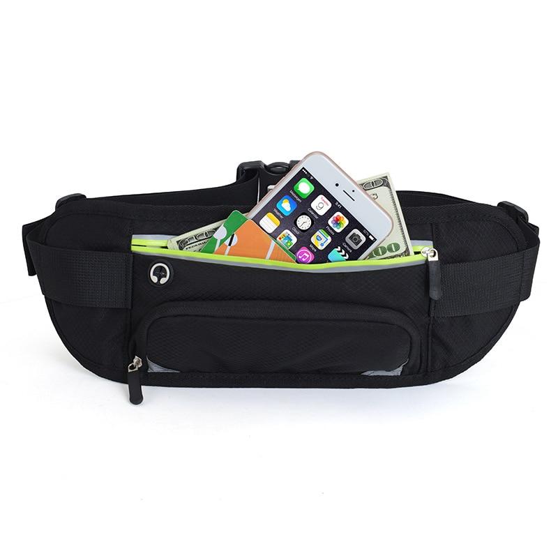 Esportes cintura saco de garrafa de água correndo sacos da cintura reflexivo faixa cintura cinto pacotes fitness telefone bolsa h7jp
