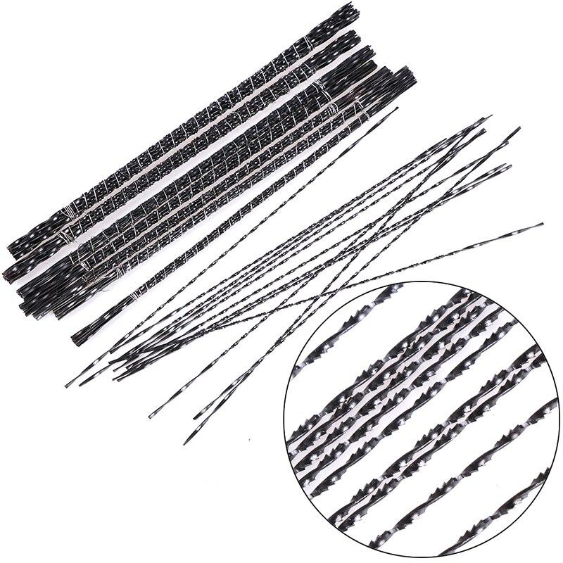 12 uds/0,7/0,85/0,9/0,95/1,05/1,13/1,28/1,35mm espiral diente cuchillas de sierra para madera de Metal de alambre de acero de corte de mano herramientas de artesanía de talla