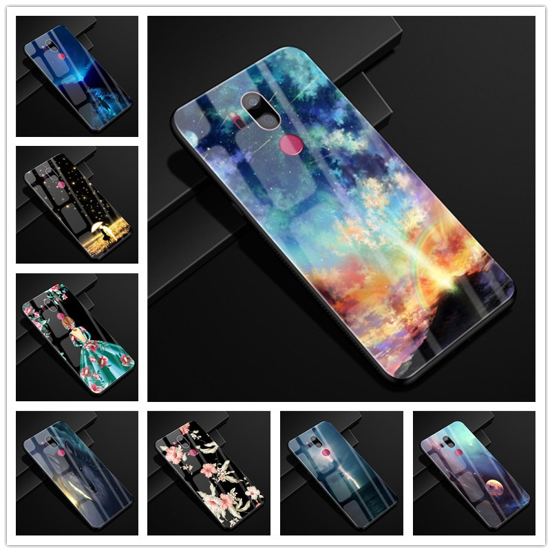 Для LG G7 чехол thinq стекло задняя крышка Жесткий чехол для телефона чехол для LG G7 LGG7 чехол G710 Мягкий Бампер закаленное Капа для LG G 7 6,1''