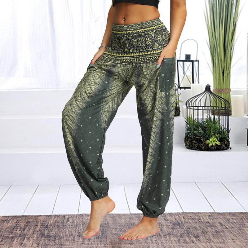 Womens Loose Yoga Pants Floral Print Wide Leg Trousers Long Stretch Pants Loose Palazzo Trousers Sweatpants Harlan Pants womens loose yoga pants floral print wide leg trousers long stretch pants loose palazzo trousers sweatpantsharlan pants