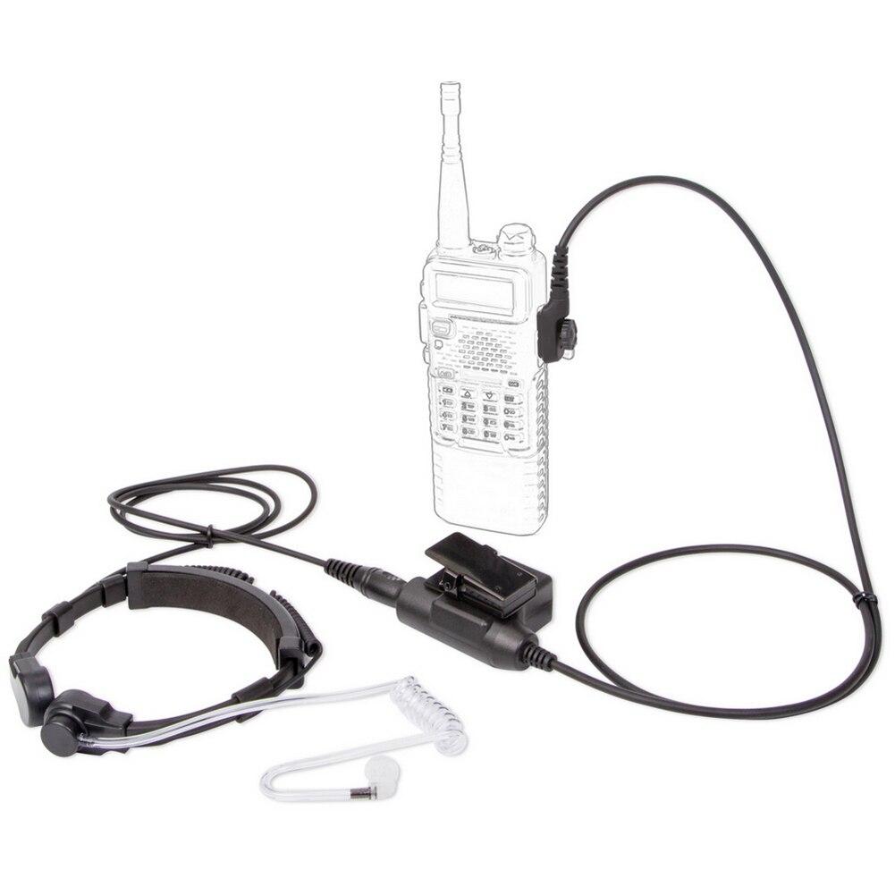 7.1mm Air Tube Throat Vibration Mic Headset + Z Tactical U-94/A U94 PTT for Hytera HYT PD702 /700 /700G PD780 /780G /780GM Radio