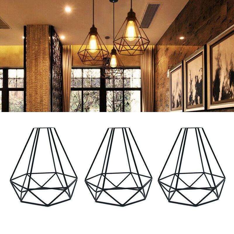 retro luz pingente gaiola de ferro pendurado gaiola do vintage lampada led industrial