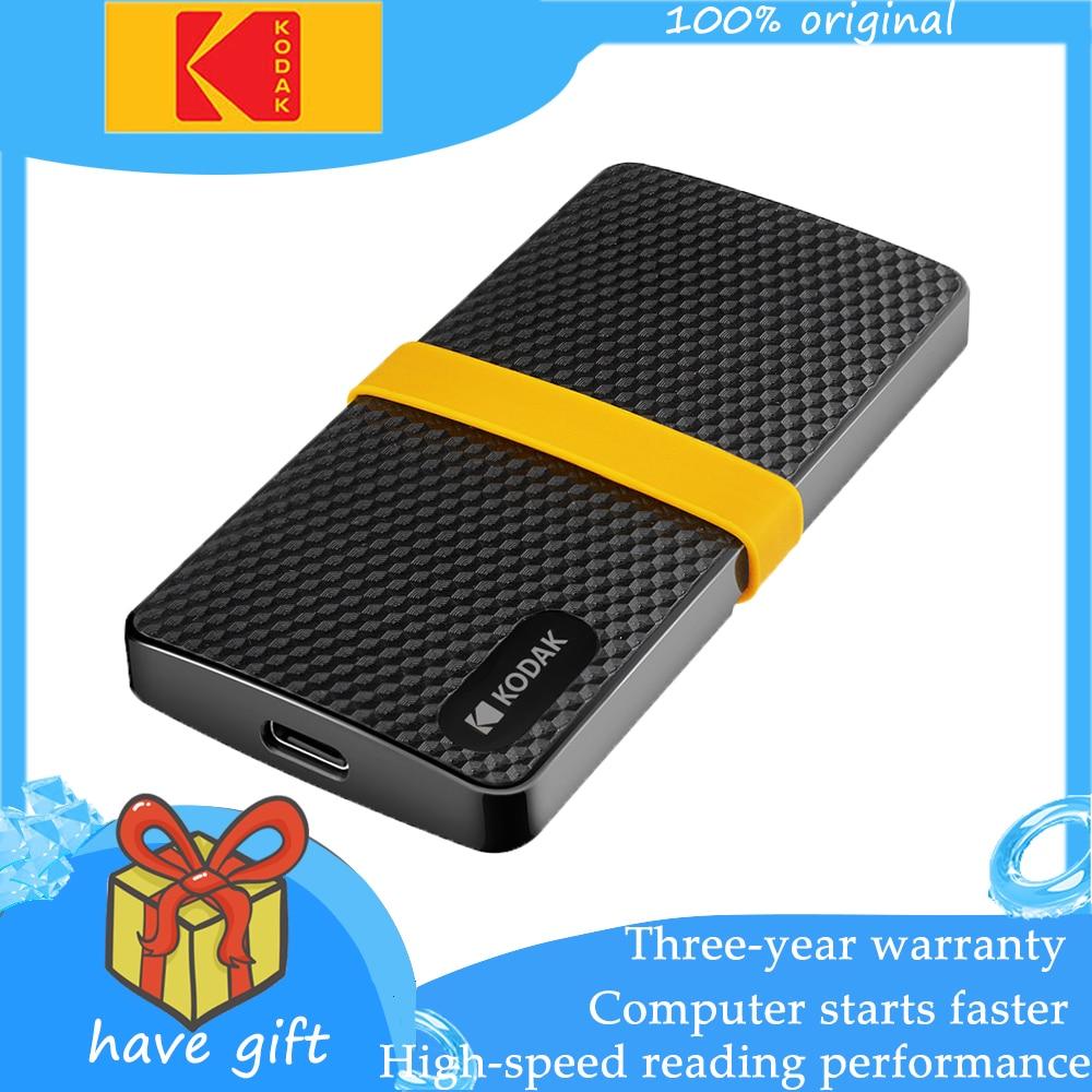 Original Kodak X200 numérique Portable disque dur 1 to 256gb 512gb Type C externe hdd 3.1 disque dur pour ordinateur Portable