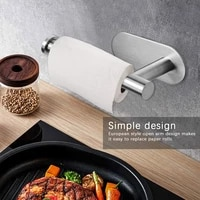 stainless steel free toilet paper holder kitchen roll paper accessories wall mounted bathroom tissue towel accessories rack rack