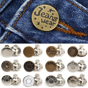 Metal Pants Buttons Retractable Snap Fastener F/ Clothes Jeans Perfect Fit Adjust Pin Button Self Increase Reduce Waist Free Sew