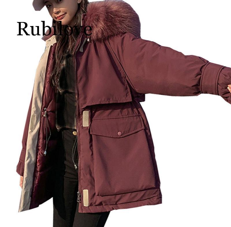 Популярное пальто с длинным рукавом, зимняя куртка, длинная куртка с густым мехом, зимняя куртка с капюшоном