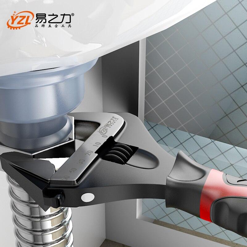 Llave ajustable de acero inoxidable llave Universal Mini tuerca llave de mano herramientas