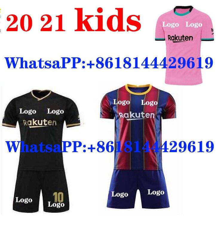 Los niños FC BARCELONAES camiseta de fútbol 2020 2021 camisetas DE futbol ANSU FATI 20 21 Messi GRIEZMANN de JONG alusivos de fútbol