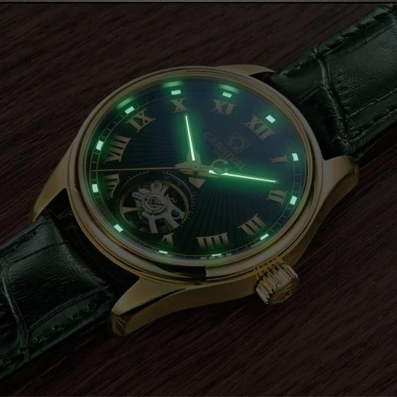Carnival Top Brand Fashion Watch Men Luxury Business Mechanical Wristwatch Waterproof Luminous Automatic Clock Relogio Masculino enlarge