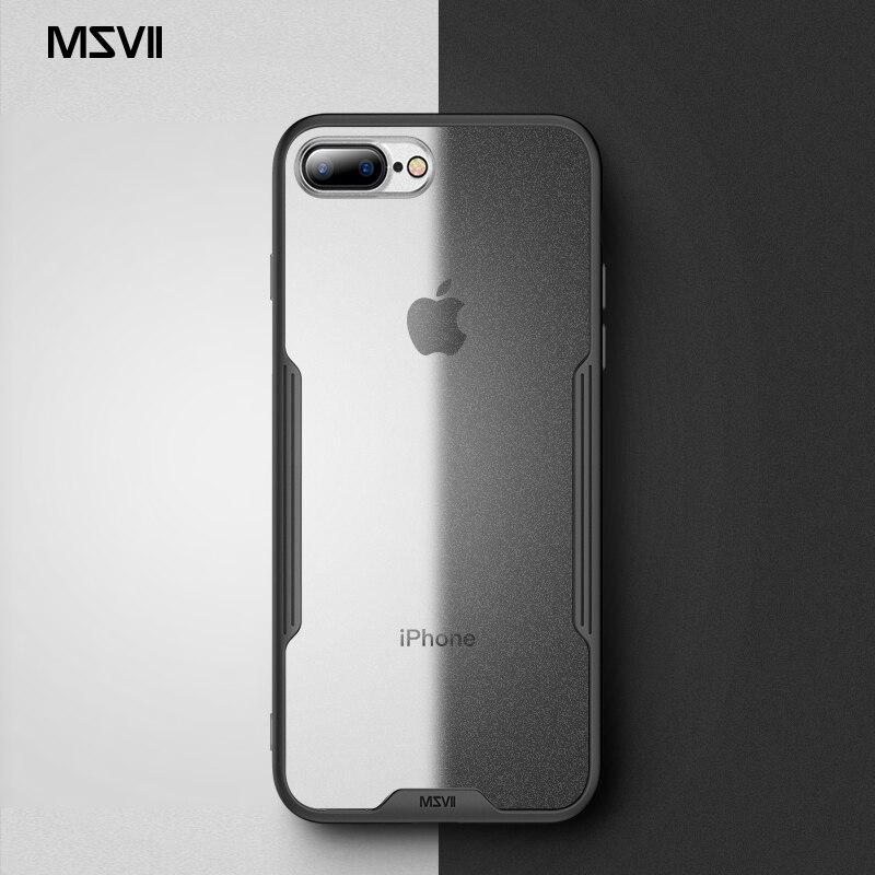 Funda Msvii para iPhone 7 360 Cristal para iPhone 8, carcasa de silicona para iPhone 7 8 Plus, funda protectora