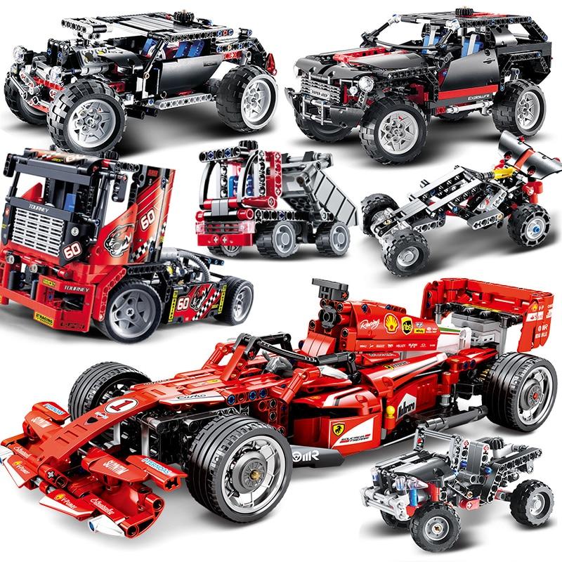 Decool Technic MOC F1 Motor coche modelo de crucero bloques de construcción Motobike compatibles con City Race Truck fórmula Sets bloque tamaño