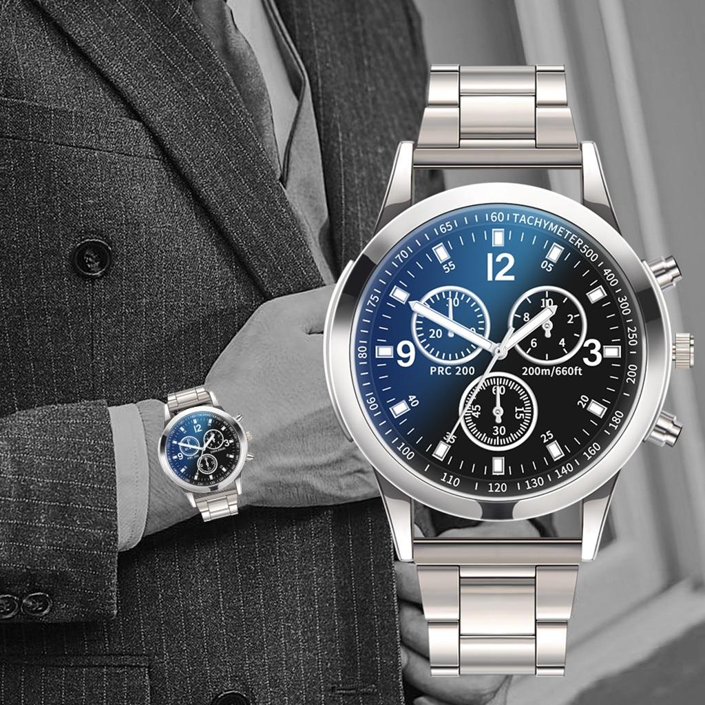 Luxury Business Quartz Wristwatch Men Watches Quartz Watch Stainless Steel Dial Casual Bracele Watch Chronograph Quartz Watch