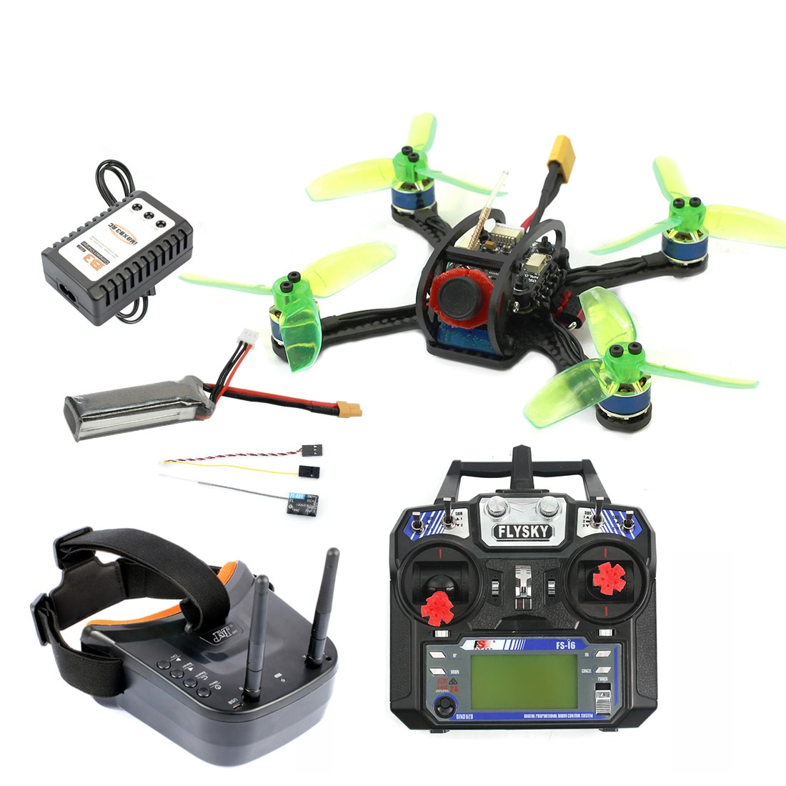 120mm Mini F3 OSD 2S RC FPV Racer Drone Quadcopter 700TVL Kamera VTX Goggle 10A ESC 7500KV Bürstenlosen 2,4G 6ch BNF RTF Combo Set
