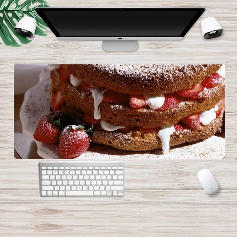 Персонализированные коврики для мыши Sweet Cake, коврик для компьютерной мыши, ноутбука XL, большой игровой коврик для клавиатуры, настольного ПК...