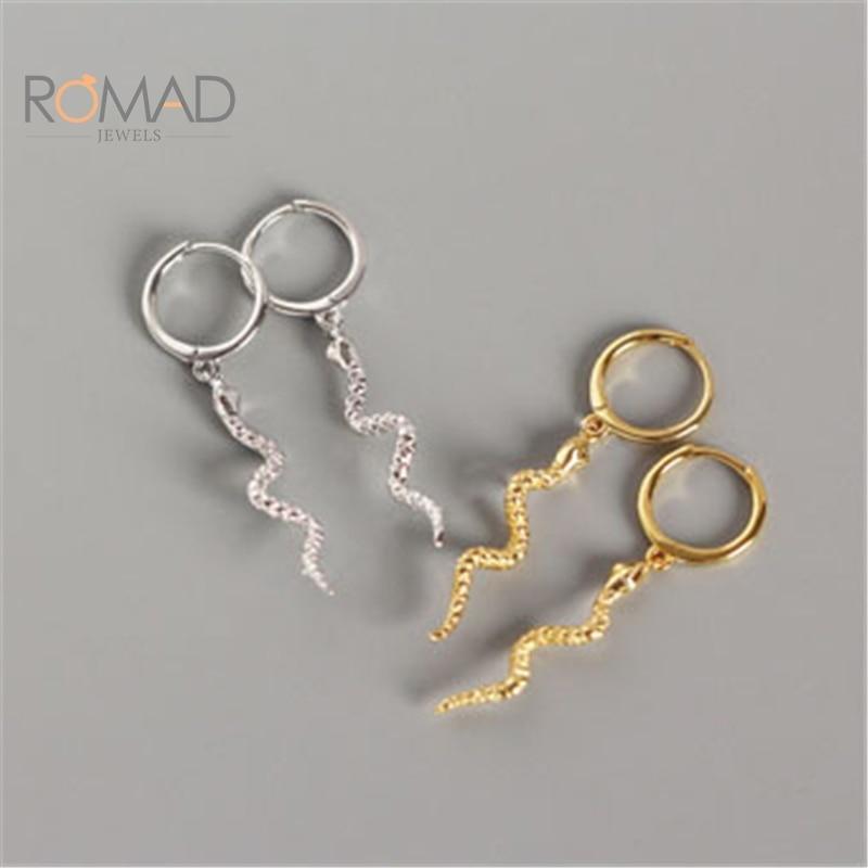 romad-модные-длинные-под-змеиную-кожу-Змеиная-кожа-кисточкой-серьги-925-стерлингового-серебра-серьги-для-женщин-в-стиле-панк-животных-серьги-ю